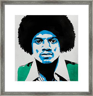 The King Of Pop. Framed Print by Nancy Mergybrower