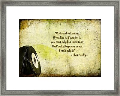 The King Of Rock And Roll Cant Help It Framed Print
