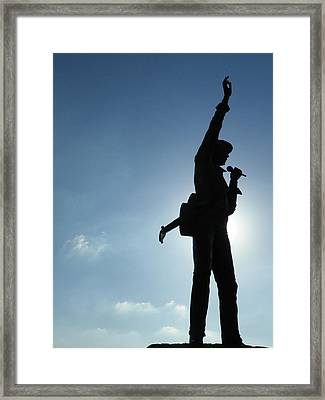 The King Of Rock Framed Print by Noreen HaCohen