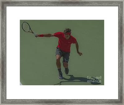The King Of Tennis Framed Print by Terry Cosgrave