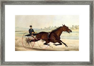 The King Of The Turf Framed Print by Currier And Ives