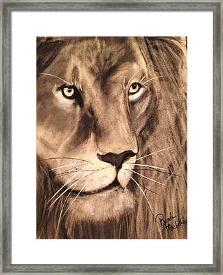 The King Framed Print by Renee Michelle Wenker