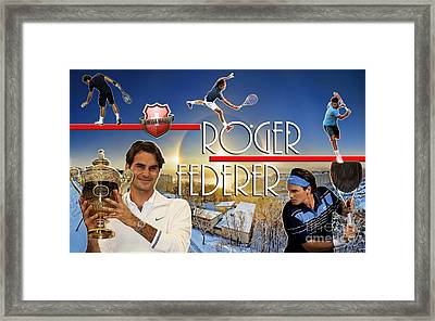 The King Roger Federer Framed Print by Christopher Finnicum