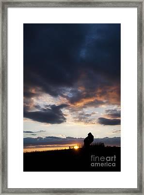 The King Stone Sunset Framed Print