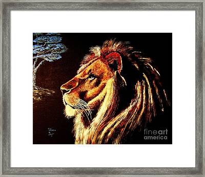 Framed Print featuring the painting the King by Viktor Lazarev