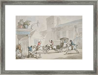 The Kings Arms, Dorchester Framed Print by Thomas Rowlandson