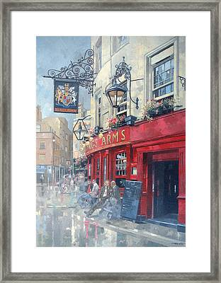 The Kings Arms, Shepherd Market, London Oil On Canvas Framed Print by Peter Miller