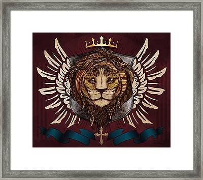 The King's Heraldry Framed Print by April Moen