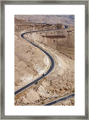The King's Highway At Wadi Mujib Jordan Framed Print
