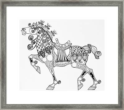 The King's Horse - Zentangle Framed Print