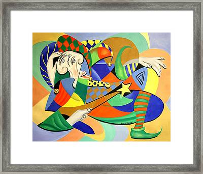 The Kings Jester Framed Print by Anthony Falbo