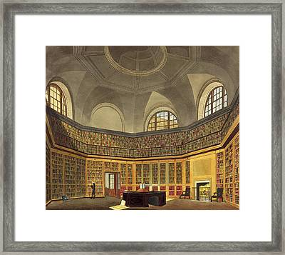 The Kings Library Framed Print by James Stephanoff