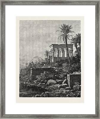 The Kiosk On The Island Of Philae Framed Print