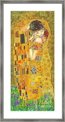 The Kiss After Klimt Framed Print by Kate Bedell