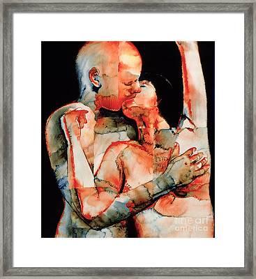The Kiss Framed Print by Graham Dean