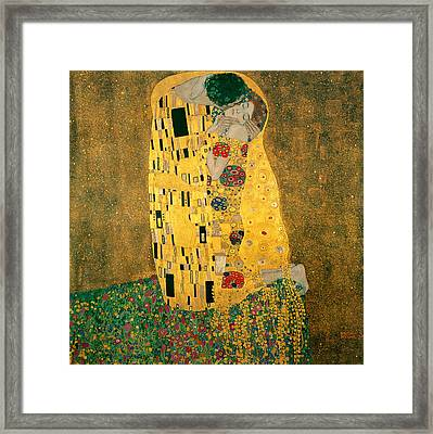 The Kiss Framed Print by Gustive Klimt