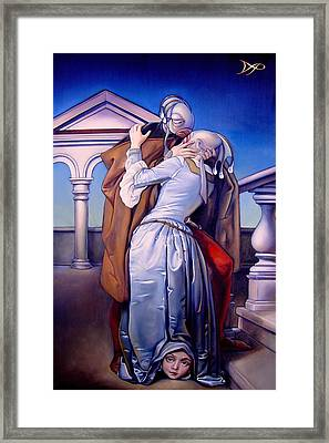 The Kiss Of Unrequited Love Framed Print by Patrick Anthony Pierson
