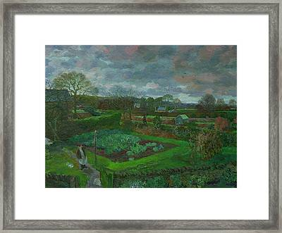 The Kitchen Garden In Autumn Framed Print