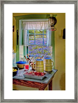 The Kitchen Window Framed Print by David and Carol Kelly