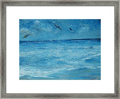 The Kite Surfers Framed Print by Conor Murphy