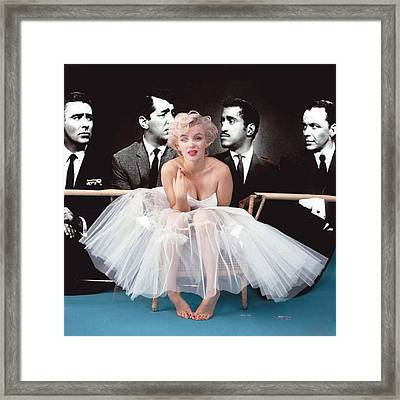 The Kitten And The Rat Pack Framed Print