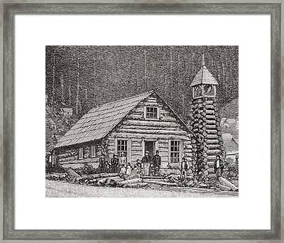 The Klondike Presbyterian Church At Juneau, Alaska Framed Print by American School