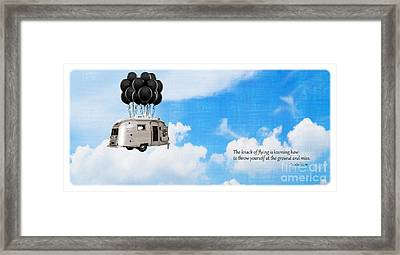 The Knack Of Flying Framed Print