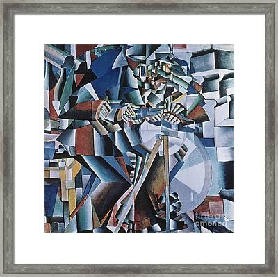 The Knife Grinder Framed Print by Kazimir  Malevich