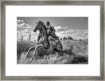 The Knight Goes Forth Framed Print