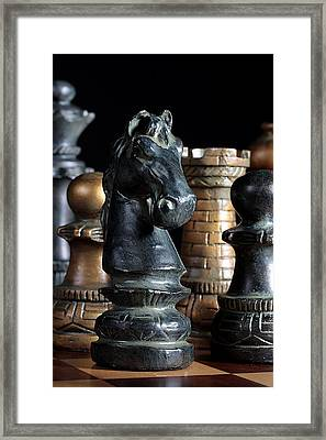 The Knights Challenge Framed Print