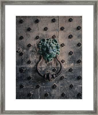 The Knocker At Leeds Castle Framed Print by Marie  Cardona