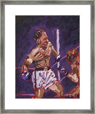 The Knockout Framed Print by Preston Sandlin