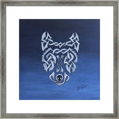 The Knotty Wolf Framed Print by Sandy Jasper