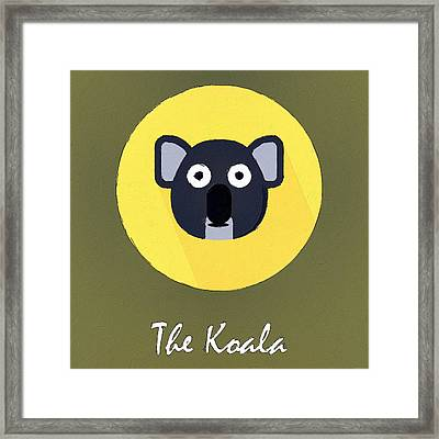 The Koala Cute Portrait Framed Print by Florian Rodarte