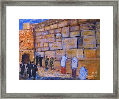 The Kotel Framed Print