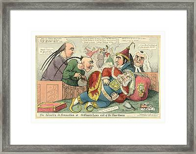 The Kremlin In Commotion  Or  The Grand Lama Sick Framed Print by Litz Collection
