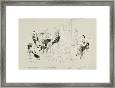 The Krettly Quartet Framed Print by Ren? Bou?t-Willaumez