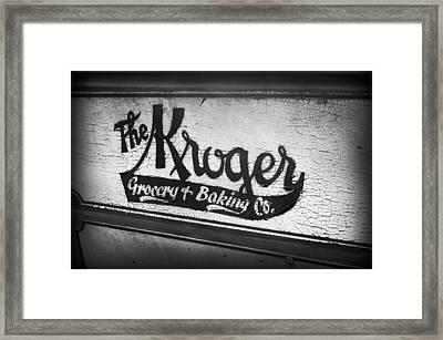 The Kroger Sign Framed Print