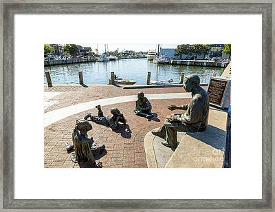 The Kunta Kinte-alex Haley Memorial In Annapolis Framed Print