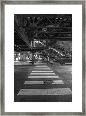 The L And Crosswalk Framed Print