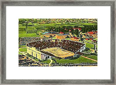 The L S U Stadium In Baton Rouge La Around 1940 Framed Print by Dwight Goss