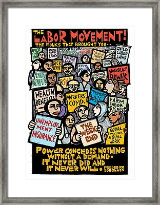 The Labor Movement Framed Print by Ricardo Levins Morales