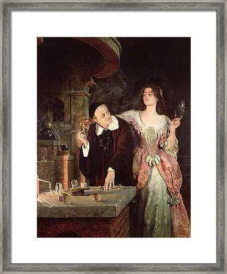 The Laboratory, 1895 Framed Print