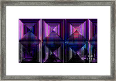 Framed Print featuring the painting The Labyrinth by Roz Abellera Art