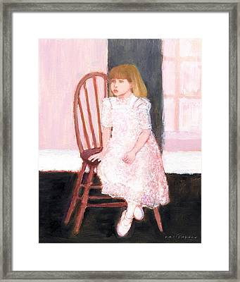 The Lace Dress Framed Print