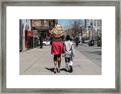 The Lady And Her Gentleman Framed Print