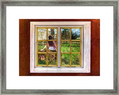The Lady And The Banjo Framed Print by Semmick Photo