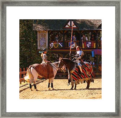 The Lady And The Knight Framed Print