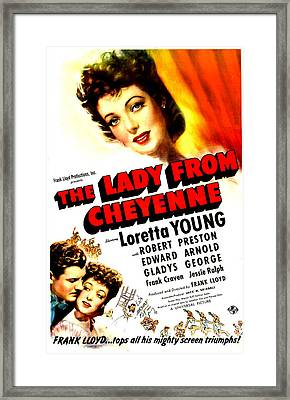 The Lady From Cheyenne, Us Poster Framed Print