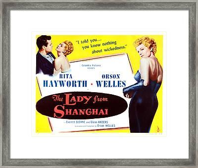 The Lady From Shanghai, Us Lobbycard Framed Print by Everett
